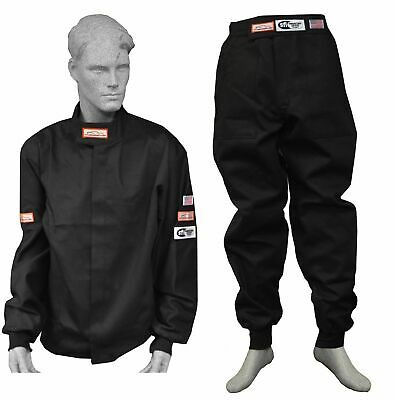 DRAG RACING FIRE SUIT SFI 1 JACKET & PANTS SFI 3.2A/1 BLACK SM MD LG XL 2X 3X (Drag Pants)