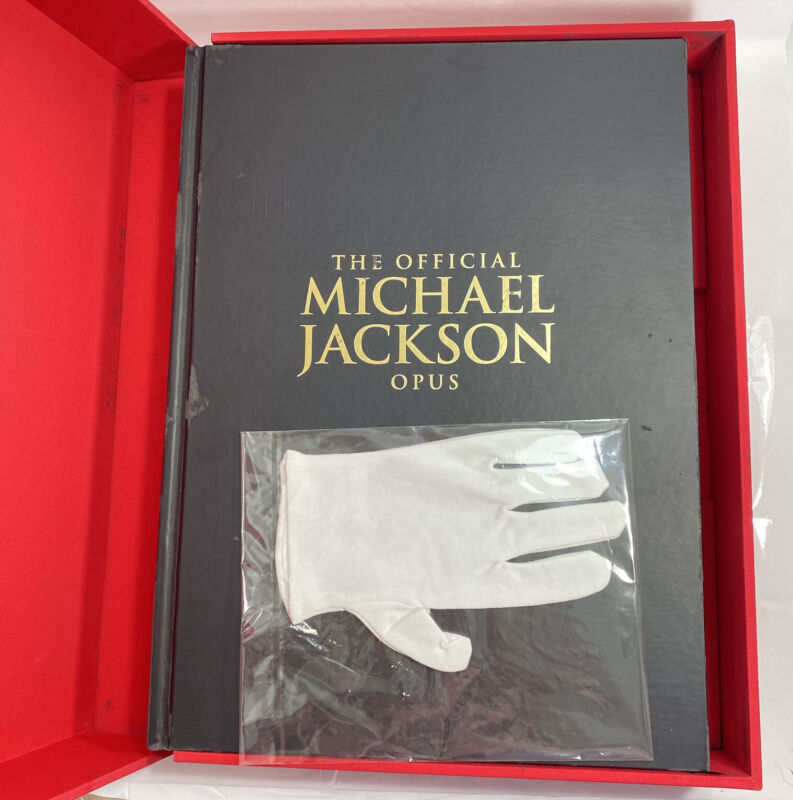1st Edition Official Michael Jackson OPUS Book & glove in original box MINT Rare