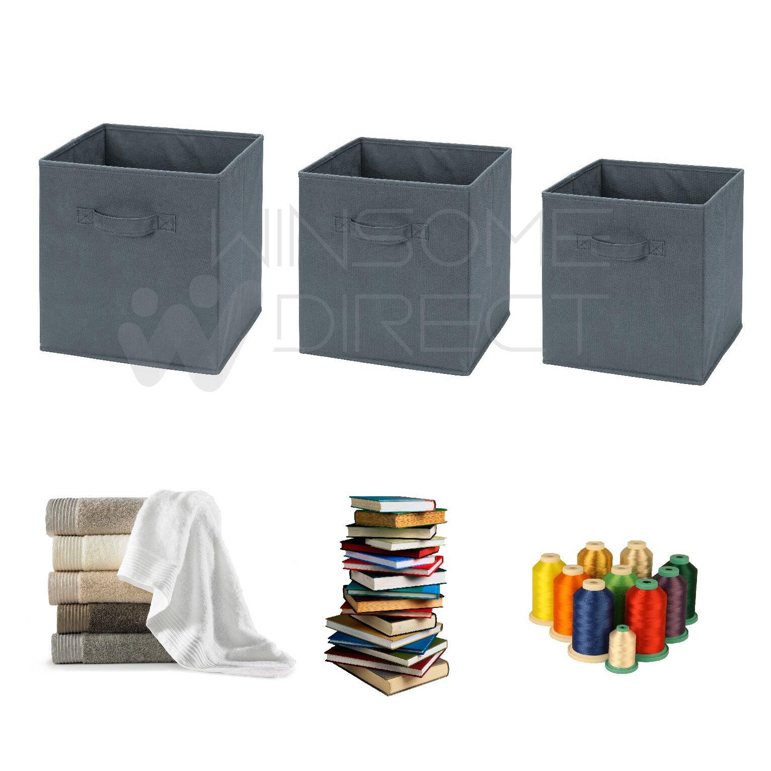 Folding Square Storage Utility Box Fabric Cube Drawer