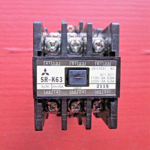 Mitsubishi SR-K63 Contactor 200V Coil