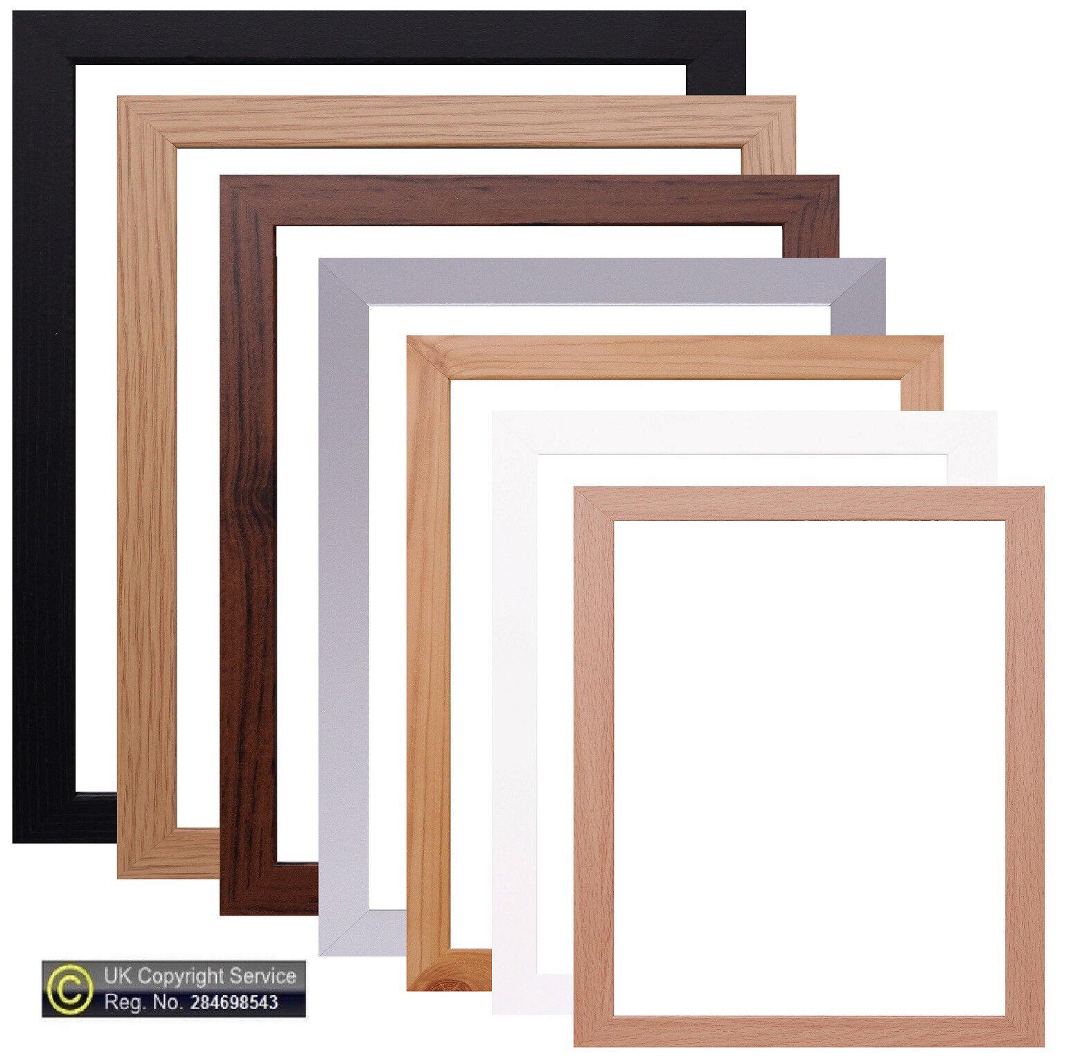 Photo Frame Picture Poster Frame Black White Pine Silver Oak Beech Dark Oak
