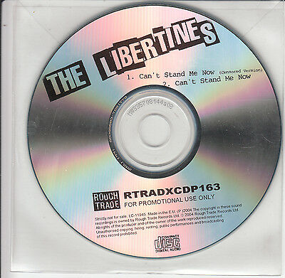 THE LIBERTINES Can't Stand Me Now 2004 UK 2-trk promo test CD