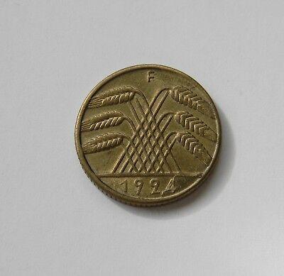 WEIMAR: 10 Reichspfennig 1924 F, J. 317, prägefrisch/unc. !!!