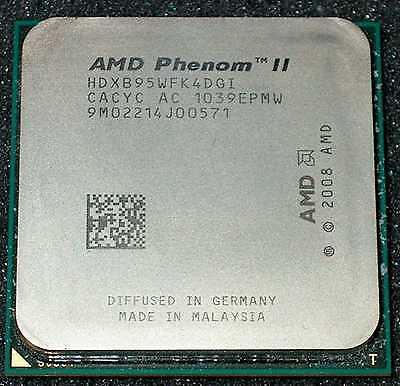 AMD PHENOM II X 4    3.0 GHZ QUAD CORE B95 Processor, HDXB95WFK4DGI, SOCKET