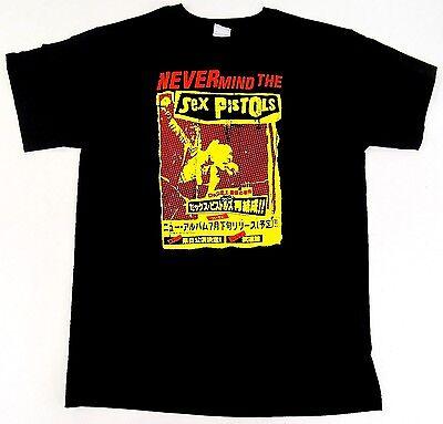 SEX PISTOLS T-shirt Punk Rock Sid Vicious Johnny Rotten Adult Tee Black New - Adult Punk