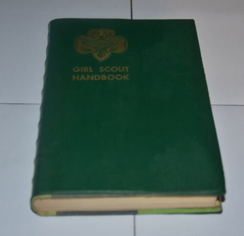 Vintage Girl Scout Handbook Intermediate Program 1953-55 Plastic Cover