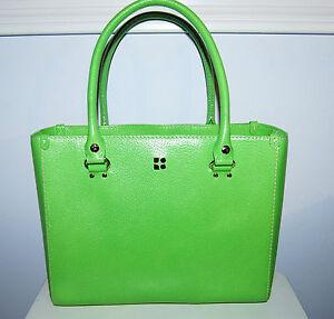 Kate-Spade-Quinn-Wellesley-green-leather-purse-handbag-tote-shopper-bag