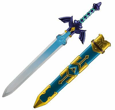 The Legend of Zelda Link Master Plastic Sword with Blue and Gold Scabbard Case