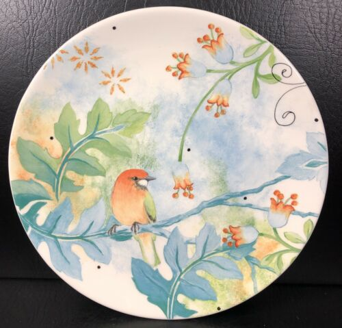 Fits & Floyd New Heritage Salad Plate Blue Flowers & Bird
