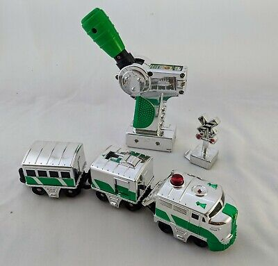 Fisher Price GeoTrax H8100 Chrome Clover express train engine set WORKS green