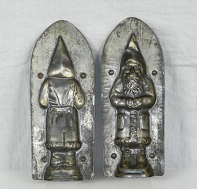 Antike Schokoladenform Weihnachtsmann Santa Nikolaus Chocolate Mold 16 cm
