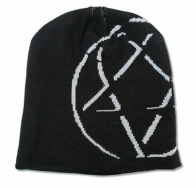 HIM H.I.M. SHADOW HEARTAGRAM BLACK SKI HAT BEANIE NEW CAP OFFICIAL BAND