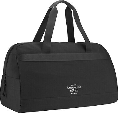 Men's Abercrombie & Fitch Navy Canvas Luxury Weekender Duffel Holdall Gym Bag