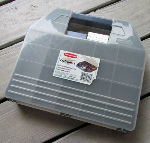 Rubbermaid Craftainer Plastic Case Organizer Box Carry Along Crafts Scrapbooking