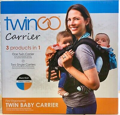 TwinGo Original Baby Carrier- Separates to 2 Single Carriers 10-45 lbs (4F)