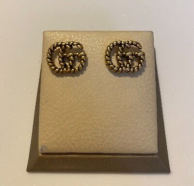 Gucci earrings in antiqued gold XR 420