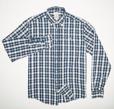 GANT by Michael Bastian Men's Designer Button Down Shirt Blue Plaid Size XL