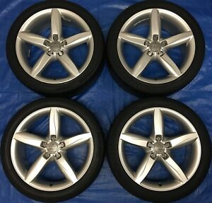 "2014 Audi A4 / S4 OEM 18"" Wheels & Tires 60% *Amazing Condition*"