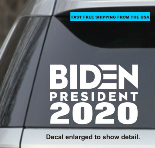 """Joe Biden 2020 for President 7.5"""" White Vinyl Decal Sticker Car Bumper"""