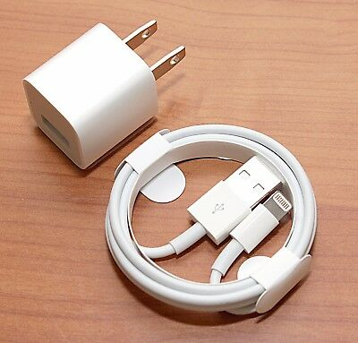 Apple iPhone 8 Advantage X 10 7 6S 6+ 6 PLUS SE Wall Charger Lightning Cable GENUINE