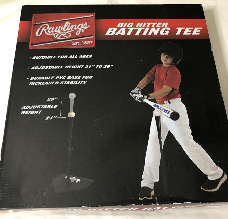 Rawlings Big Hitter Adjustable Batting Tee Baseball Softball Training Sport
