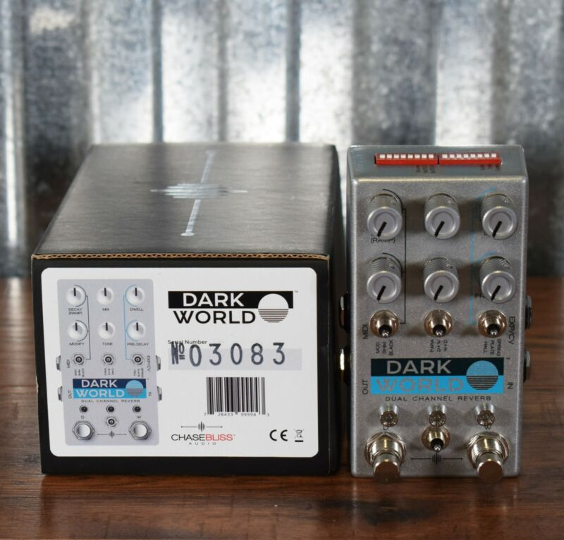 Chase Bliss Audio Dark World Dual Channel Reverb Guitar Effect Pedal Used