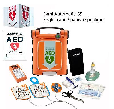 Cardiac Science Powerheart Aed G5 Semi Automatic Dual Language Englishspanish