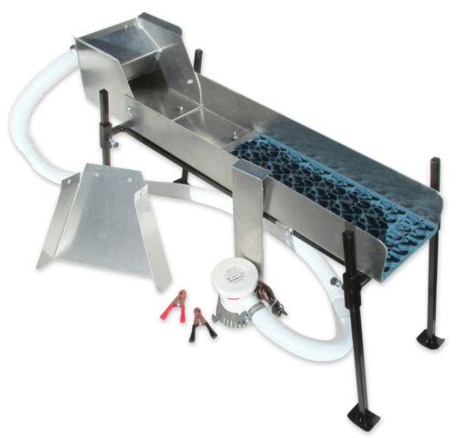 "6"" Mini Power Sluice Set Up Kit with Vortex Dream Mat - Gold Mining - Ships FREE"