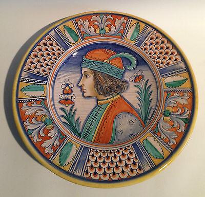 M. Sambuco Deruta Italy Wandteller Plate Handbemalt Hand Painted 50s 60s