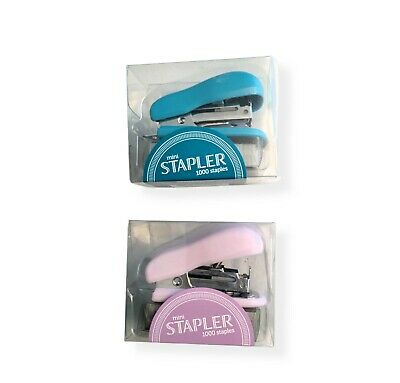 Mini Stapler Office Depot Blue Pink 1000 Staples