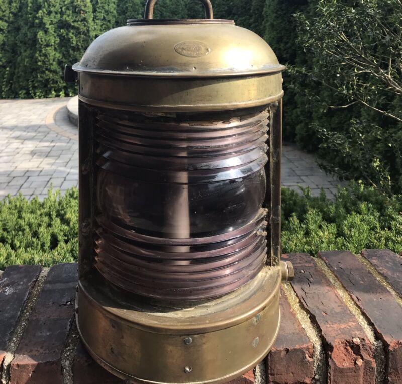 PERKO Vintage Solid Brass Nautical Lamp Lantern USA