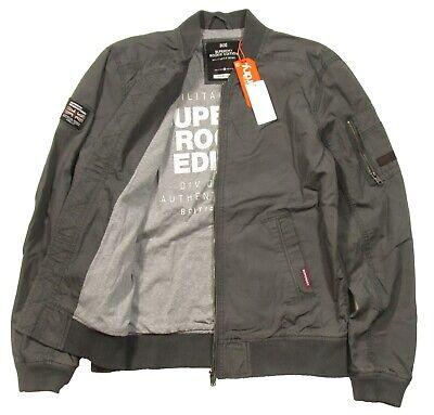 Superdry Men's Gunmetal Grey Rookie Duty Bomber Full Zip Jacket