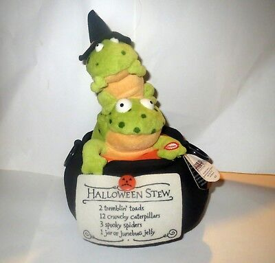 DISCONTINED HALLOWEEN Tremblin Toads Frog  - ANIMATED SINGING WITCHES STEW - Halloween Witches Stew