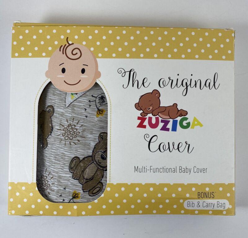 The Original Zuziga Cover Multi-Functional Baby Cover Bonus Bib Carry Bag Bears