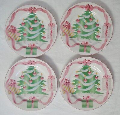 4 Sango China Home for Christmas Salad Plates 8
