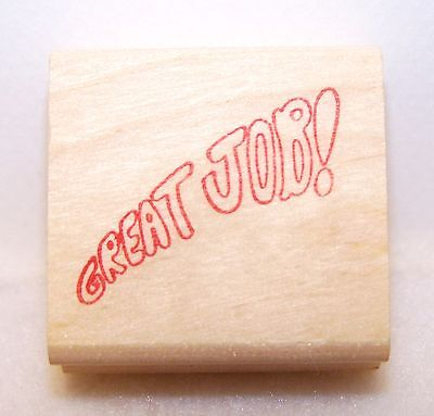 New Vintage STAMP AFFAIR Wood Rubber Stamp GREAT JOB! Clean Never Used