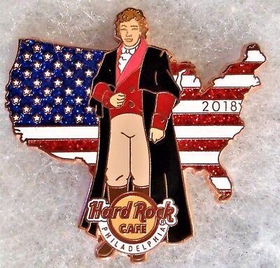 HARD ROCK CAFE PHILADELPHIA COMPOSER FRANCIS SCOTT KEY USA MAP FLAG PIN # (Composers Rock)