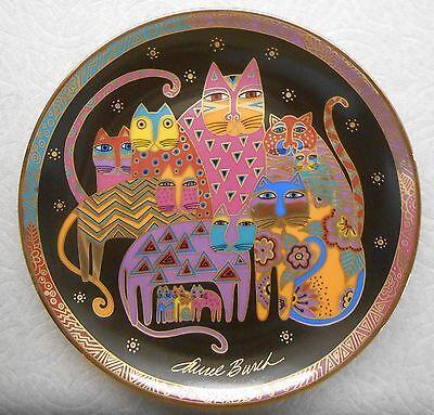 Vtg LAUREL BURCH Fabulous Felines Franklin Mint Ltd Ed 11 unique CATS cat plate