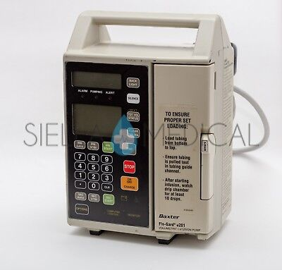 Baxter Flo-gard 6201 Single Channel Infusion Iv Pump Biomed Tested
