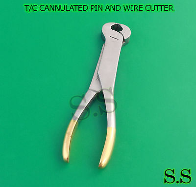 Tc Cannulated Pin And Wire Cutter Orthopedic Surgical Veterinary Instruments