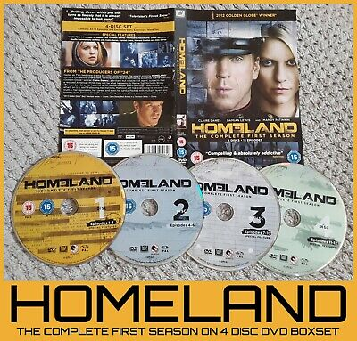 HOMELAND the first series/season 1/one. 4x DVD Boxset, discs only. USA TV Drama - Halloween Movie Series Box Set