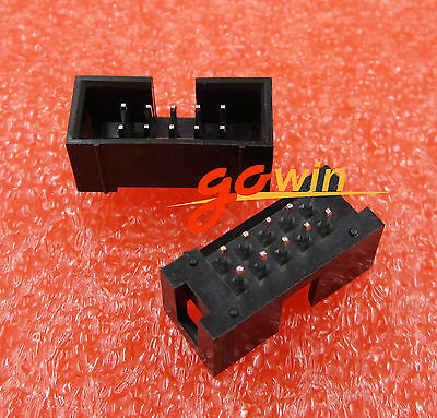 100pcs 2.54mm 2x5 Pin 10 Pin Straight Male Shrouded header IDC Socket new