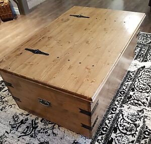 Custom hand made coffee table storage chest