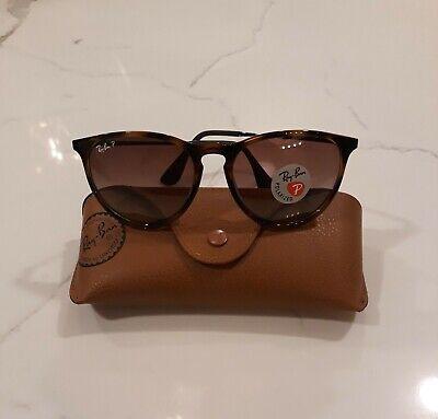 Ray-Ban Sunglasses Erika Tortoise Havana Polarized Brown Gradient RB4171 54mm