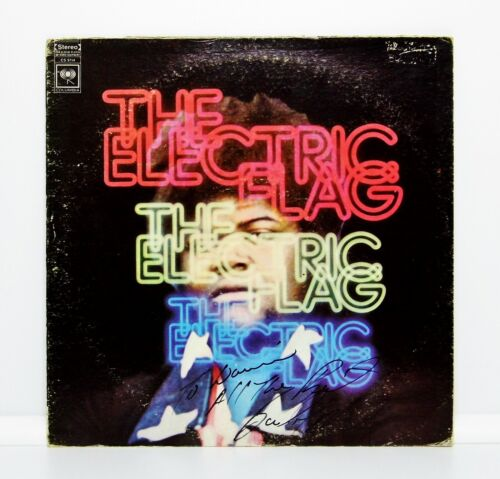 """Authentic Hand-Signed The Electric Flag """"An American Music Band"""" DEMO Album 1968"""