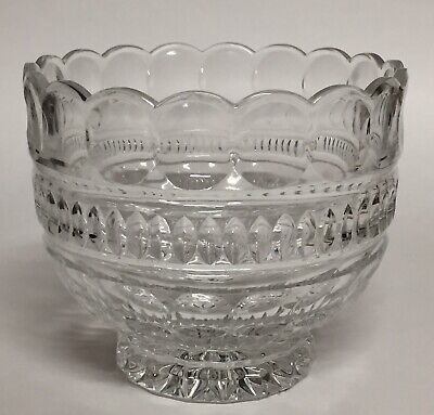 "Crystal Candy Dish Bowl Scalloped Rim 4.5"" Tall Crystal Candy Dish Bowl"
