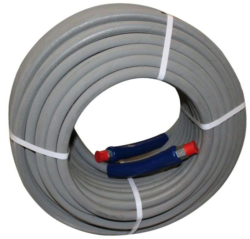 """200 ft 3/8"""" Gray Non-Marking 4000 psi Pressure Washer Hose 200"""