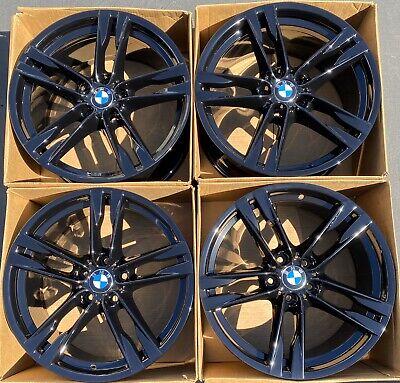 "20"" BMW 650i 640i 550i 535i 373 M Factory OEM Wheels Black Rims Staggered 20"