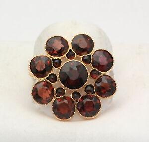 Vintage-Antique-Rhodalite-Garnet-Pin-Brooch-14k-Gold