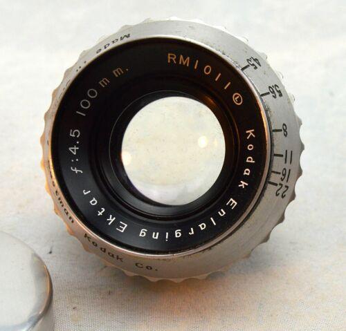Kodak 100mm f4.5 Enlarging Ektar Lens, Excellent Condition